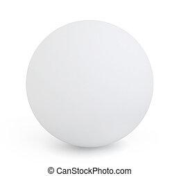 3D Illustration of a White Orb