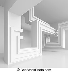 Abstract Industrial Concept - 3d Illustration of Abstract ...