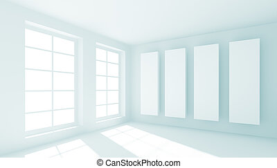 3d Illustration of Abstract Interior Background or Wallpaper