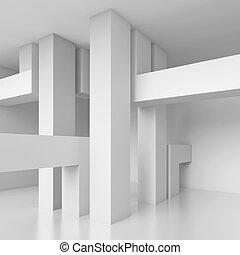 3d Illustration of Abstract Minimalistic Design