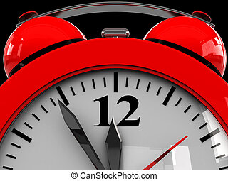 alarm clock dial - 3d illustration of alarm clock dial...
