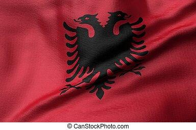 3D Illustration of Albania Flag