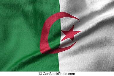 3D Illustration of Algeria Flag