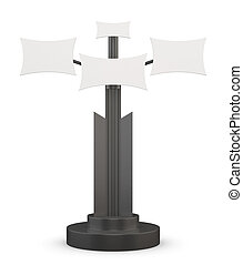 3d illustration of an advertising stand on a white background