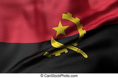 3D Illustration of Angola Flag