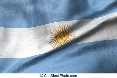 3D Illustration of Argentina Flag
