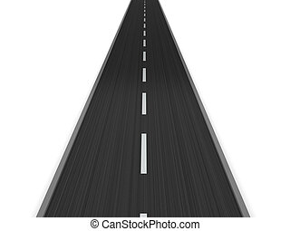 asphalt road - 3d illustration of asphalt road isolated over...