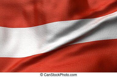 3D Illustration of Austria Flag