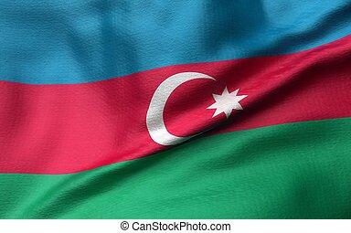 3D Illustration of Azerbaijan Flag