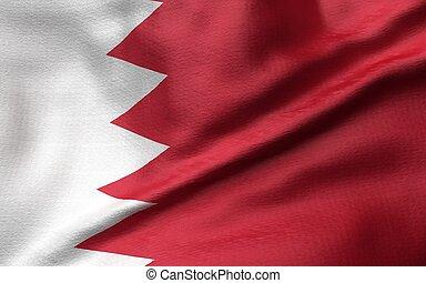 3D Illustration of Bahrain Flag
