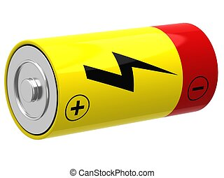 3D illustration of battery