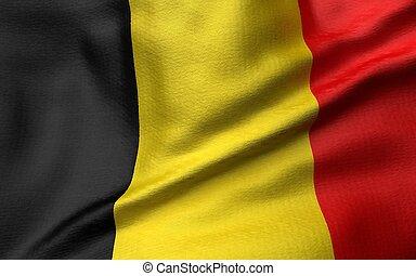 3D Illustration of Belgium Flag