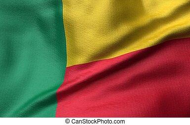 3D Illustration of Benin Flag
