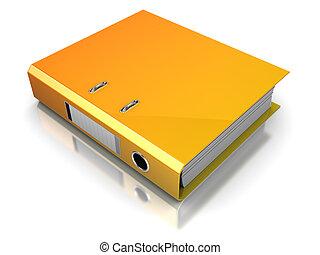 3d illustration of binder folder over white background