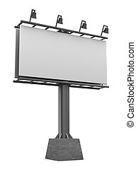 billboard - 3d illustration of blank billboard isolated over...