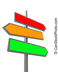 index - 3d illustration of blank colorful index sign ...