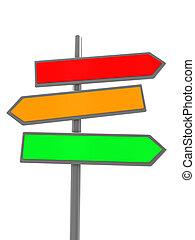 index - 3d illustration of blank colorful index sign over...