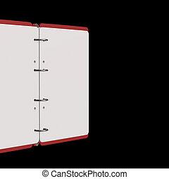 3d illustration of blank notepad