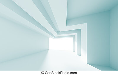 Architecture Background - 3d Illustration of Blue Abstract...
