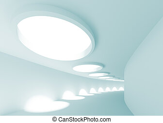 Abstract Architecture Background - 3d Illustration of Blue...