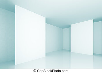 Gallery - 3d Illustration of Blue Abstract Gallery...