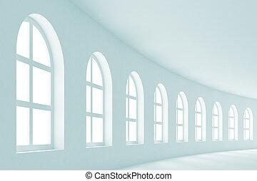 Abstract Hall Interior