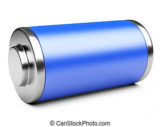 3D illustration of blue battery