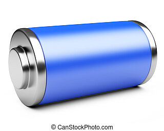 3D illustration of blue battery