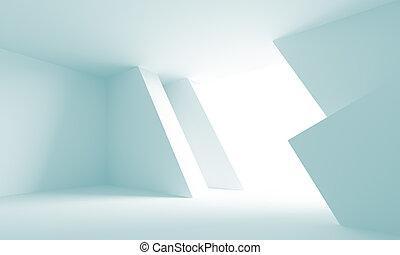 Futuristic Architecture Background - 3d Illustration of Blue...