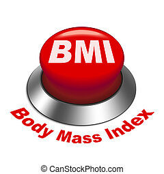 3d illustration of BMI ( Body Mass Index) button isolated ...