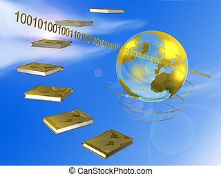 books - 3d illustration of books