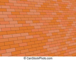 brick wall - 3d illustration of brick wall diagonal angle...