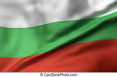 3D Illustration of Bulgaria Flag