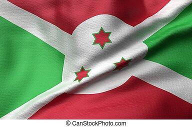 3D Illustration of Burundi Flag