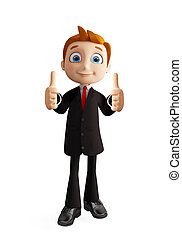 businessman with thumbs up pose
