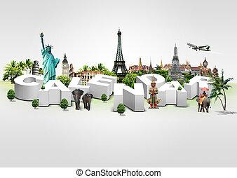 3D Illustration of Calendar on trav