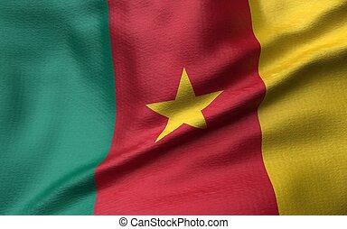 3D Illustration of Cameroon Flag