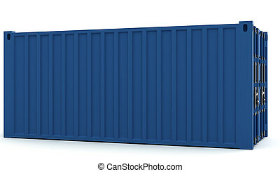 Illustration of Cargo containers isolated on white