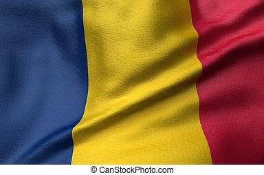 3D Illustration of Chad Flag