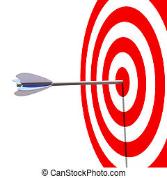 target - 3d illustration of classic target and arrow ...