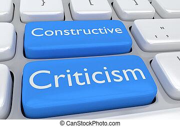 Constructive Criticism concept - 3D illustration of computer...