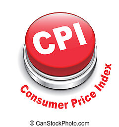 3d illustration of CPI ( Consumer Price Index ) button...