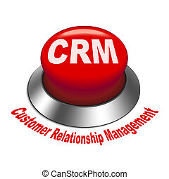 3d illustration of crm (Customer Relationship Management) button isolated white background