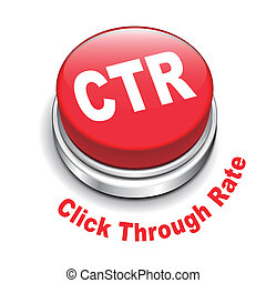 3d illustration of ctr click through rate button