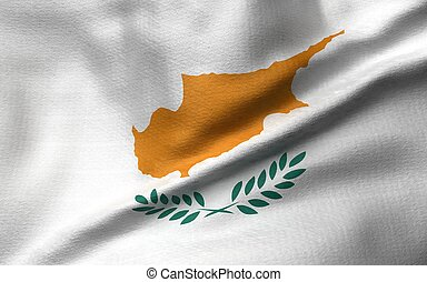 3D Illustration of Cyprus Flag