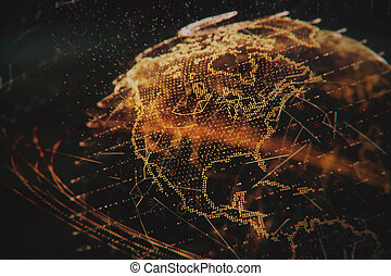 3d illustration of detailed virtual planet Earth.
