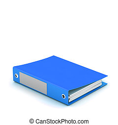 3d illustration of documents folder