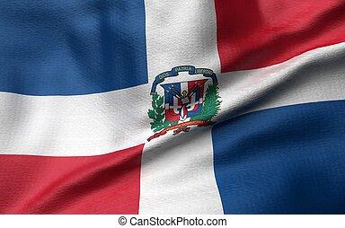 3D Illustration of Dominican Republic Flag