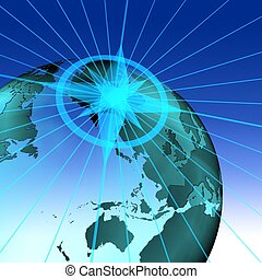 globe - 3d illustration of earth globe