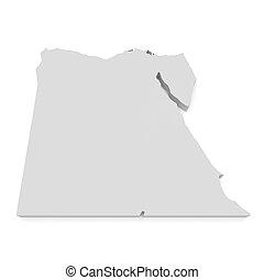 3d Illustration of Egypt Map Isolated On White